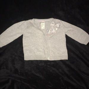 Gray Osh kosh b'gosh cardigan sweater 12 months